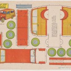 Coleccionismo Recortables: RECORTABLE BRUGUERA. COCHE TIPO JEEP. (21X29) AÑO 1959. Lote 211957325