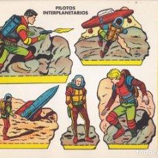 Collezionismo Figurine da Ritagliare: RECORTABLE PILOTOS INTERPLANETARIOS EDITORIAL BRUGUERA. Lote 213684522