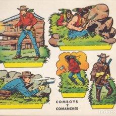 Coleccionismo Recortables: RECORTABLE COWBOYS Y COMANCHES EDITORIAL BRUGUERA. Lote 213684967