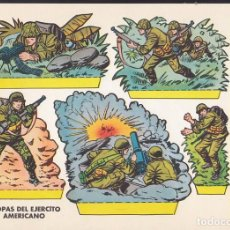 Coleccionismo Recortables: RECORTABLE TROPAS DEL EJERCITO AMERICANO EDITORIAL BRUGUERA. Lote 213685021