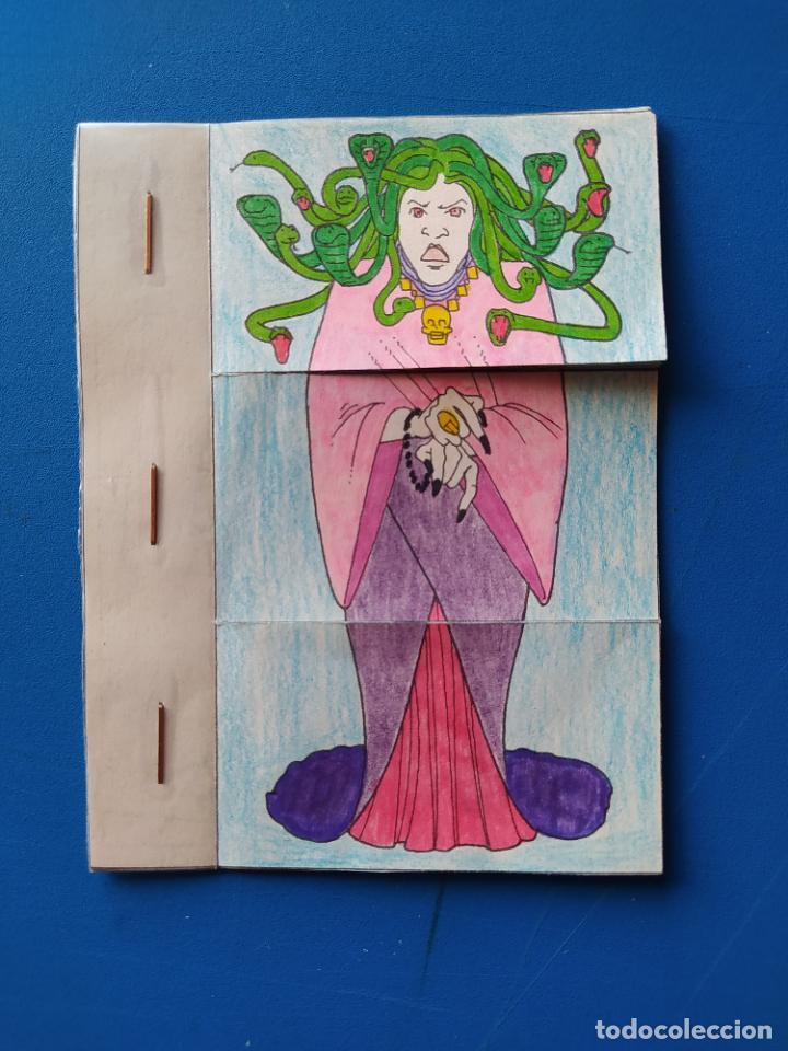 Coleccionismo Recortables: FHER. CORTA, COLOREA Y ARMA: MONSTRUOS + LIBRO LOCO DE MONSTRUOS YA MONTADO Y COLOREADO - 1988 - Foto 3 - 213724546
