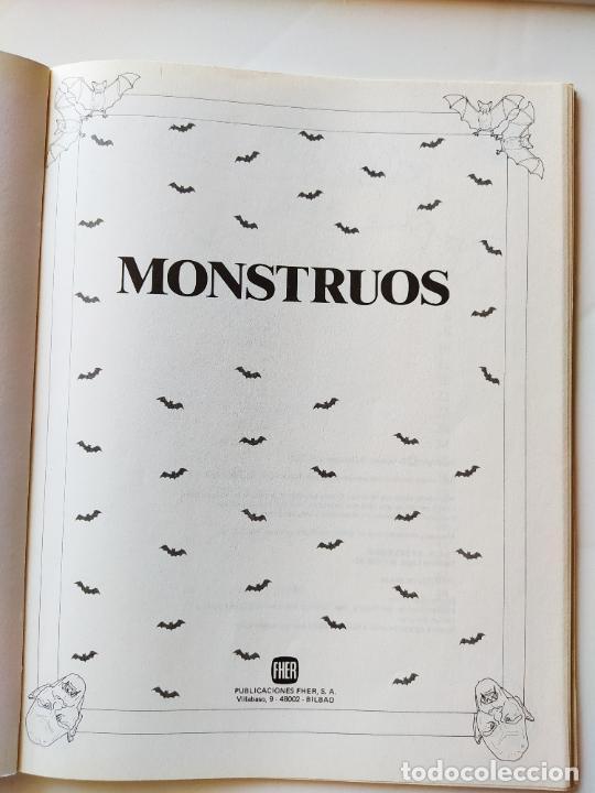 Coleccionismo Recortables: FHER. CORTA, COLOREA Y ARMA: MONSTRUOS + LIBRO LOCO DE MONSTRUOS YA MONTADO Y COLOREADO - 1988 - Foto 5 - 213724546