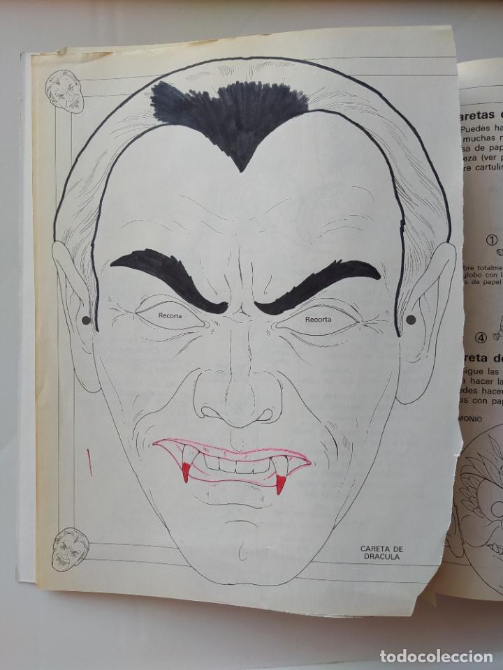 Coleccionismo Recortables: FHER. CORTA, COLOREA Y ARMA: MONSTRUOS + LIBRO LOCO DE MONSTRUOS YA MONTADO Y COLOREADO - 1988 - Foto 8 - 213724546