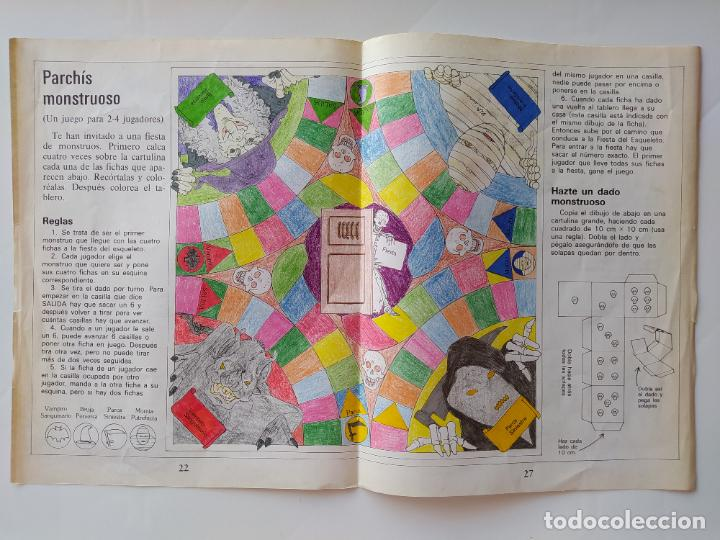 Coleccionismo Recortables: FHER. CORTA, COLOREA Y ARMA: MONSTRUOS + LIBRO LOCO DE MONSTRUOS YA MONTADO Y COLOREADO - 1988 - Foto 11 - 213724546