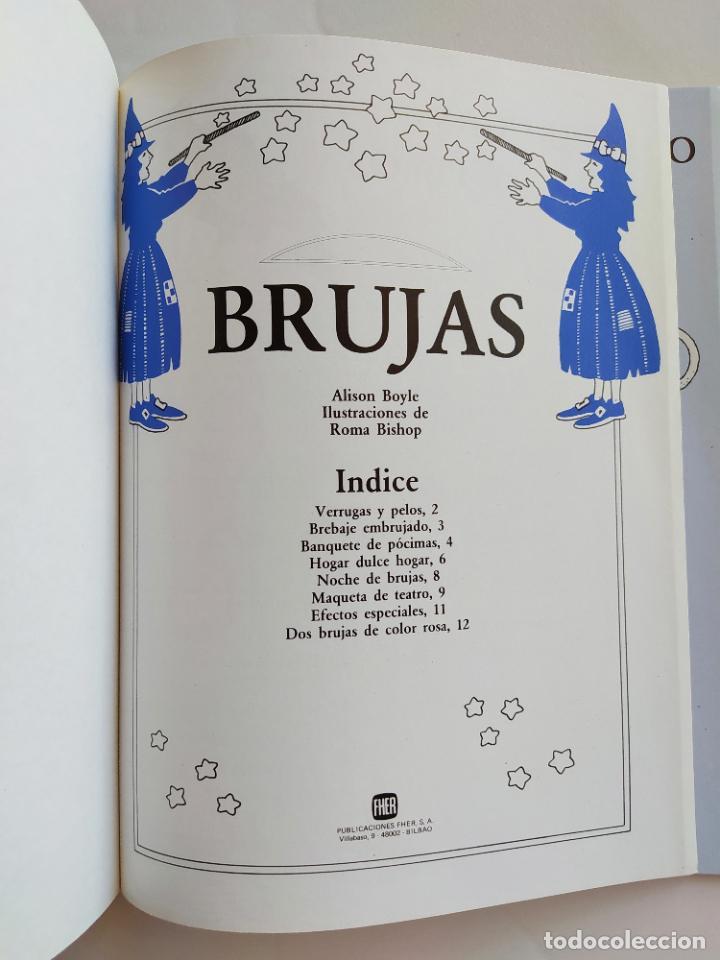 Coleccionismo Recortables: FHER. CORTA, COLOREA Y ARMA: BRUJAS - 1989 (CONTIENE EL TEATRO PARA MONTAR/PIEZAS YA RECORTADAS) - Foto 2 - 213724556