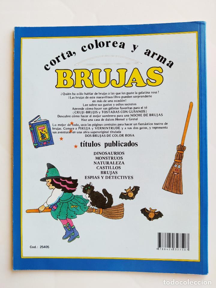 Coleccionismo Recortables: FHER. CORTA, COLOREA Y ARMA: BRUJAS - 1989 (CONTIENE EL TEATRO PARA MONTAR/PIEZAS YA RECORTADAS) - Foto 4 - 213724556