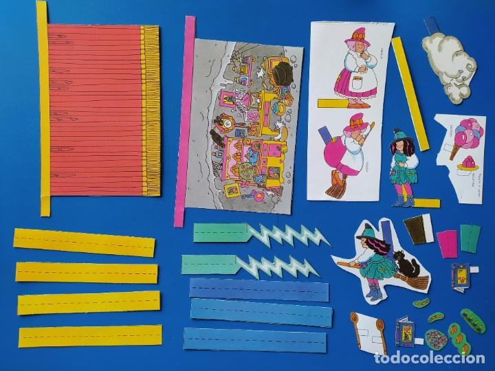 Coleccionismo Recortables: FHER. CORTA, COLOREA Y ARMA: BRUJAS - 1989 (CONTIENE EL TEATRO PARA MONTAR/PIEZAS YA RECORTADAS) - Foto 6 - 213724556