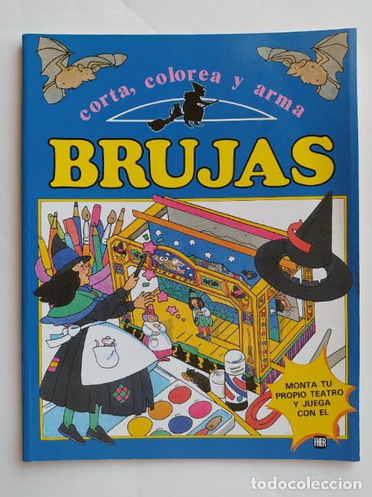 FHER. CORTA, COLOREA Y ARMA: BRUJAS - 1989 (CONTIENE EL TEATRO PARA MONTAR/PIEZAS YA RECORTADAS) (Coleccionismo - Otros recortables)