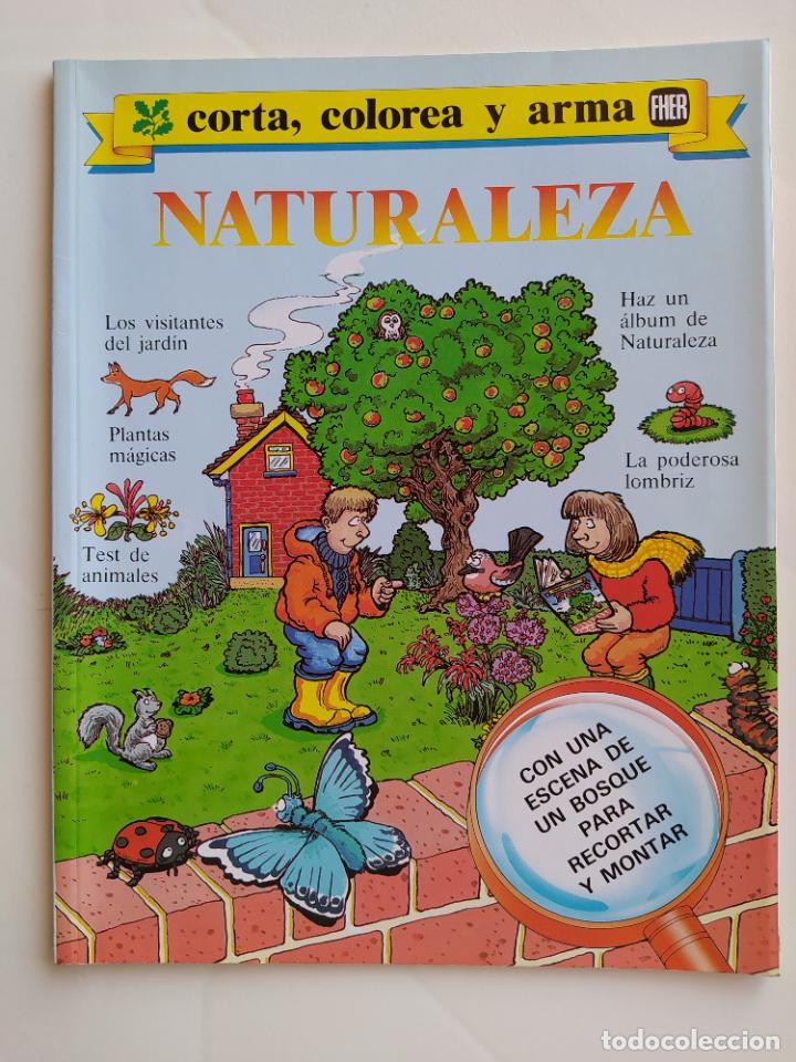 FHER. CORTA, COLOREA Y ARMA: NATURALEZA - 1988 (NO CONTIENE LA ESCENA RECORTABLE PARA MONTAR) (Coleccionismo - Otros recortables)