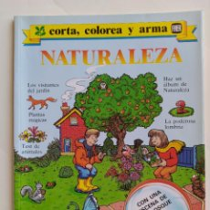 Coleccionismo Recortables: FHER. CORTA, COLOREA Y ARMA: NATURALEZA - 1988 (NO CONTIENE LA ESCENA RECORTABLE PARA MONTAR). Lote 213724560