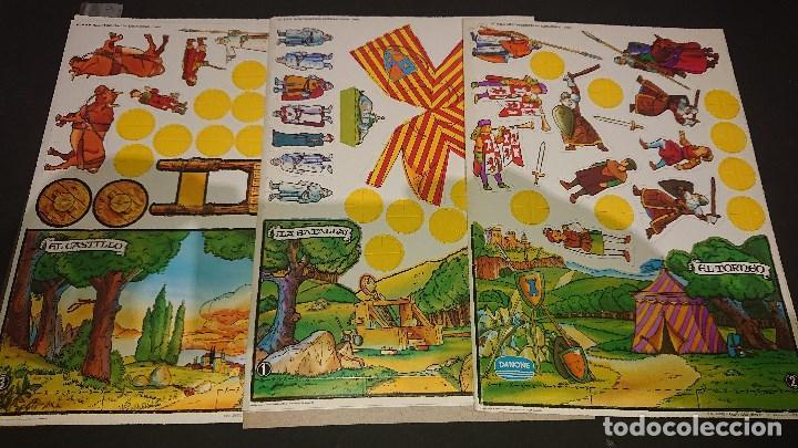 LOTE DE 3 RECORTABLES DE RUY EL PEUEÑO CID COMPLETAS DE DANONE1980 SIN USAR -, LEER DESCRIPCION (Coleccionismo - Otros recortables)
