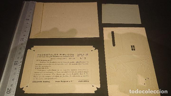 Coleccionismo Recortables: PEDESTALES BIBLICOS - Nº 2 NACIMIENTO DE CRISTO , EDICIONES BARSAL , LEER DESCRIPCION - Foto 3 - 213772893