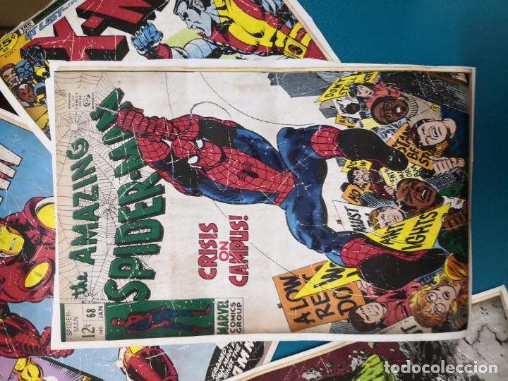 Coleccionismo Recortables: 4 recortables tipo csrtulina de portadas de comic - Foto 4 - 213825263