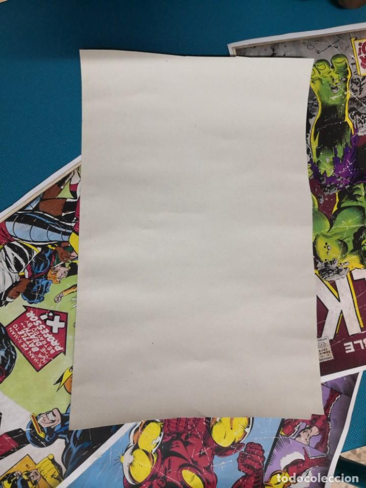 Coleccionismo Recortables: 4 recortables tipo csrtulina de portadas de comic - Foto 6 - 213825263