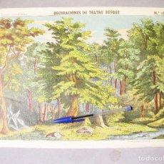 Coleccionismo Recortables: DECORACIONES DE TEATRO - BOSQUE. Nº 1035. PALUZIE.. Lote 214314196