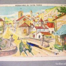 Coleccionismo Recortables: DECORACIONES DE TEATRO - PUEBLO. Nº 1038. PALUZIE.. Lote 214314350