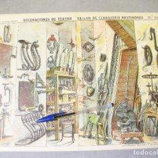 Coleccionismo Recortables: DECORACIONES DE TEATRO - TALLER DE CERRAJERÍA BASTIDORES. Nº 506. PALUZIE.. Lote 258095865