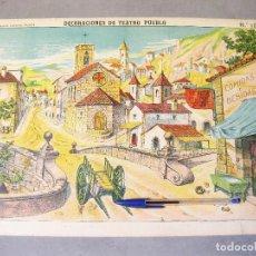 Coleccionismo Recortables: DECORACIONES DE TEATRO - PUEBLO. Nº 1038. PALUZIE.. Lote 214314516