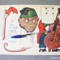 Coleccionismo Recortables: RECORTABLE RAMÓN SOPENA DE LA SERIE A Nº 24. MÚSICOS RECORTABLES. MONO CON VIOLONCHELO. Lote 214316203