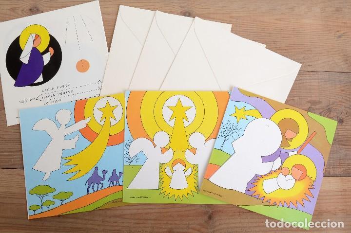 Coleccionismo Recortables: Lote de 4 Recortables Salvatella de los años 70 Felicitaciones Navidad Totus - Foto 3 - 147239670