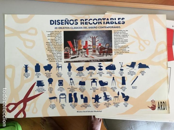 Coleccionismo Recortables: DISEÑOS RECORTABLES CARPETA 30 OBJETOS CLASICOS DISEÑO CONTEMPORANEO. DAVID SALVADOR HARDENING AB-1 - Foto 2 - 218440312