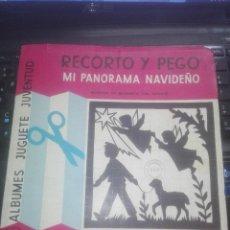 """Coleccionismo Recortables: """"RECORTO Y PEGO"""" - MI PANORAMA NAVIDEÑO - ÁLBUMES JUGUETE JUVENTUD - AÑOS 60. Lote 222119757"""