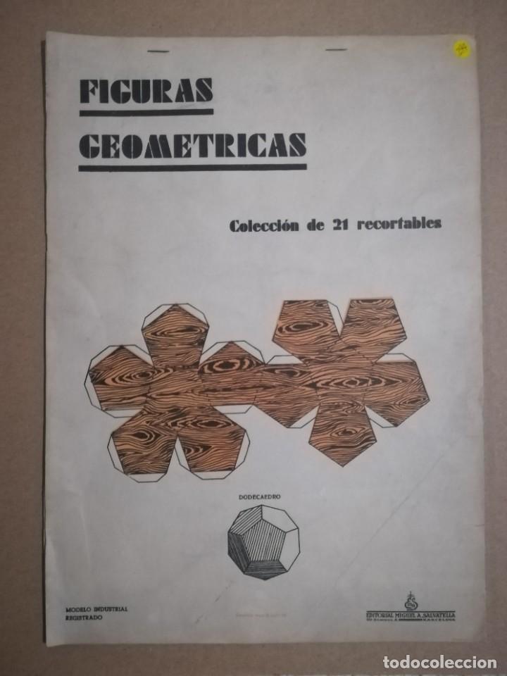 ALBUM FIGURAS GEOMETRICAS COLECCION DE 21 RECORTABLES EDITORIAL MIGUEL SALVATELLA 1960 (Coleccionismo - Otros recortables)