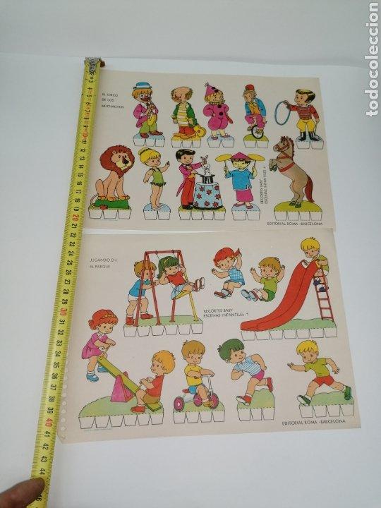 Coleccionismo Recortables: Recortable lote de 2, niños jugando edición Roma - Foto 3 - 224291292