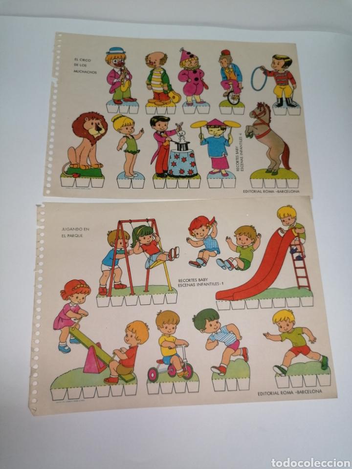Coleccionismo Recortables: Recortable lote de 2, niños jugando edición Roma - Foto 4 - 224291292