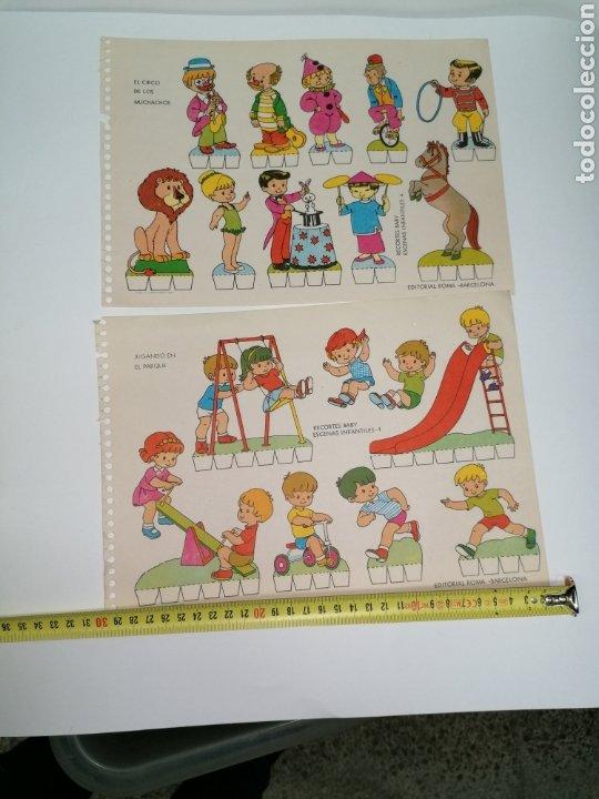 Coleccionismo Recortables: Recortable lote de 2, niños jugando edición Roma - Foto 2 - 224291292