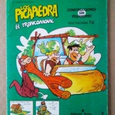 Coleccionismo Recortables: COLECCIÓN TELE-ESCENAS TV N°2 LOS PICAPIEDRA/EL TRONCOMÓVIL (ROMA, 1985). SIN USAR. HANNA-BARBERA.. Lote 225277570
