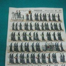 Coleccionismo Recortables: PROCESION DE LA CONGREGACION DE LA BUENA MUERTE, EN BARCELONA. PALUZIE Nº 377.. Lote 227203475