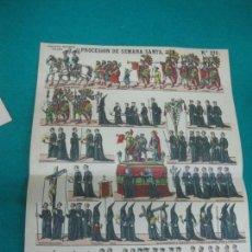Coleccionismo Recortables: PROCESION DE SEMANA SANTA PALUZIE Nº 376. Lote 227203695