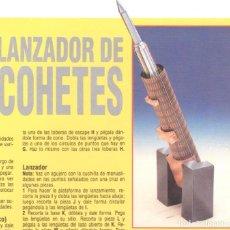 Coleccionismo Recortables: RECORTABLE LANZADOR DE COHETES. RIALP 1990. Lote 232743330