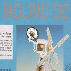 Coleccionismo Recortables: RECORTABLE MOLINO DE VIENTO. RIALP 1990. Lote 232751468
