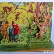 Coleccionismo Recortables: DIORAMA PLEGABLE BARSAL Nº 5. FÁBULAS DE ESOPO. EL HOMBRE SINCERO Y EL FALSO. Lote 233698430