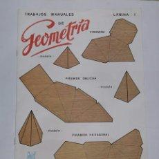 Coleccionismo Recortables: TRABAJOS MANUALES DE GEOMETRÍA. EDIVAS. 8 LÁMINAS. NUEVO. RECORTABLES. 24 MODELOS DIFERENTES.. Lote 234003950