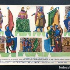 Coleccionismo Recortables: RECORTABLE / JURAMENTO DE ALFONSO VI EN SANTA GADEA / HISTORIA DE ESPAÑA Nº 5 / ED. ROMA AÑOS 60. Lote 234811830