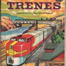 Coleccionismo Recortables: TRENES, LISTOS PARA ARMAR, RECORTABLE - ED. NOVARO MÉXICO - INGENIOSOS LIBROS DE ORO. Lote 240521125