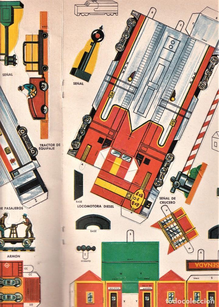 Coleccionismo Recortables: TRENES, LISTOS PARA ARMAR, RECORTABLE - ED. NOVARO MÉXICO - INGENIOSOS LIBROS DE ORO - Foto 3 - 240521125