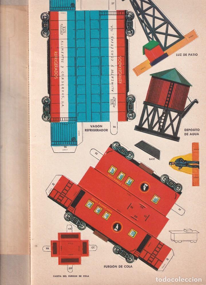 Coleccionismo Recortables: TRENES, LISTOS PARA ARMAR, RECORTABLE - ED. NOVARO MÉXICO - INGENIOSOS LIBROS DE ORO - Foto 4 - 240521125