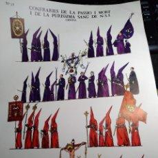 Coleccionismo Recortables: CONFRADIES DE LA PASSIO I MORT I DE LA PURISSIMA SANG DE NSJ * DALMAU CARLES PLÁ 1981 - Nº 13. Lote 244861735