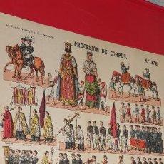 Coleccionismo Recortables: ANTIGUA LÁMINA : PROCESIÓN DE CORPUS. Nº 378. ESTAMPERIA ECONÓMICA PALUZIE. Lote 251870990
