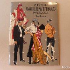 Coleccionismo Recortables: RUDOLPH VALENTINO, PAPER DOLLS, TOM TIERNEY, ED. DOVER, 1979. Lote 254183150