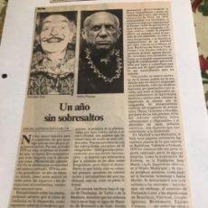 Coleccionismo Recortables: RECORTE 1979 DALI Y PICASSO. Lote 254629065