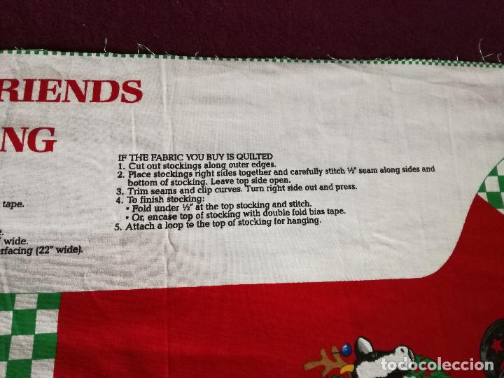 Coleccionismo Recortables: Curioso recortable de tela, Bota de dulces de navidad o similar, unos 110 x 46 cms. - Foto 8 - 255929605