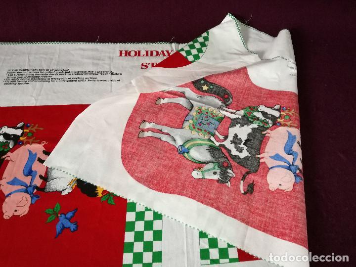 Coleccionismo Recortables: Curioso recortable de tela, Bota de dulces de navidad o similar, unos 110 x 46 cms. - Foto 10 - 255929605