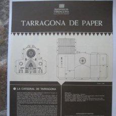 Colecionismo Recortáveis: RECORTABLE : CATEDRAL DE TARRAGONA. Lote 261795695