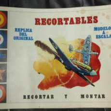 Coleccionismo Recortables: CUADERNO CON 11 RECORTABLES AVIONES MODELOS A ESCALA REPLICA DEL ORIGINAL AÑO 1971 EDITORAL VERTICE. Lote 262258700