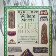 Coleccionismo Recortables: THE WILLIAM MORRIS GIFT BOXES - NICOLETTE GREEN - MAQUETA RECORTABLE - 22 DISEÑOS - 1991. Lote 262847705